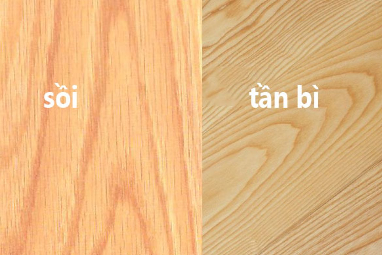 gỗ tần bì và gỗ sồi