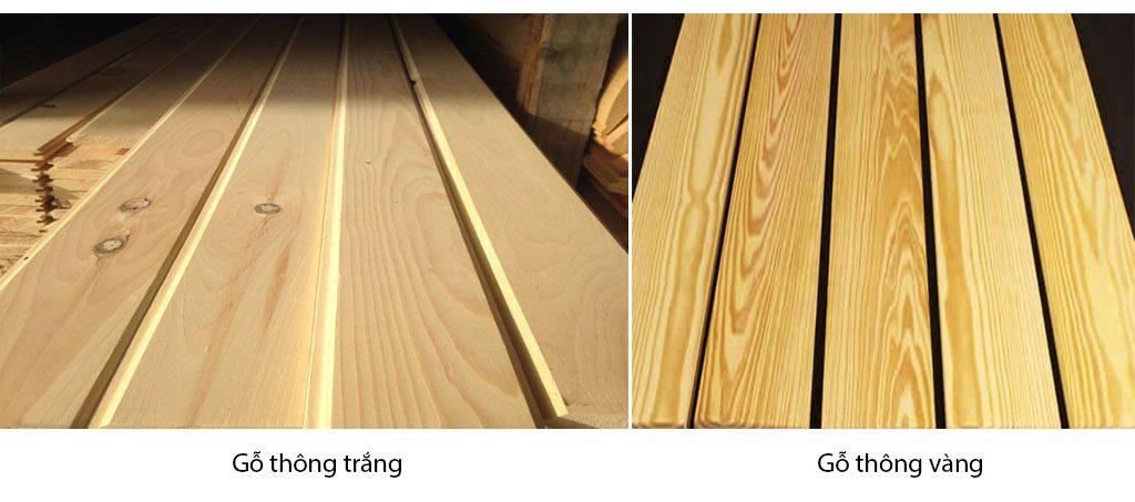 màu gỗ thông