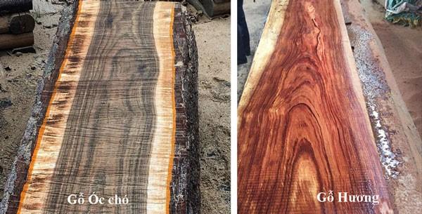 gỗ óc chó và gỗ hương