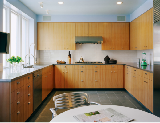 Tủ bếp gỗ sycamore
