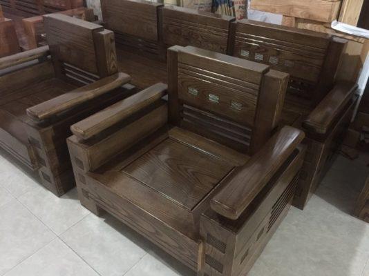 gỗ sồi sơn màu óc chó