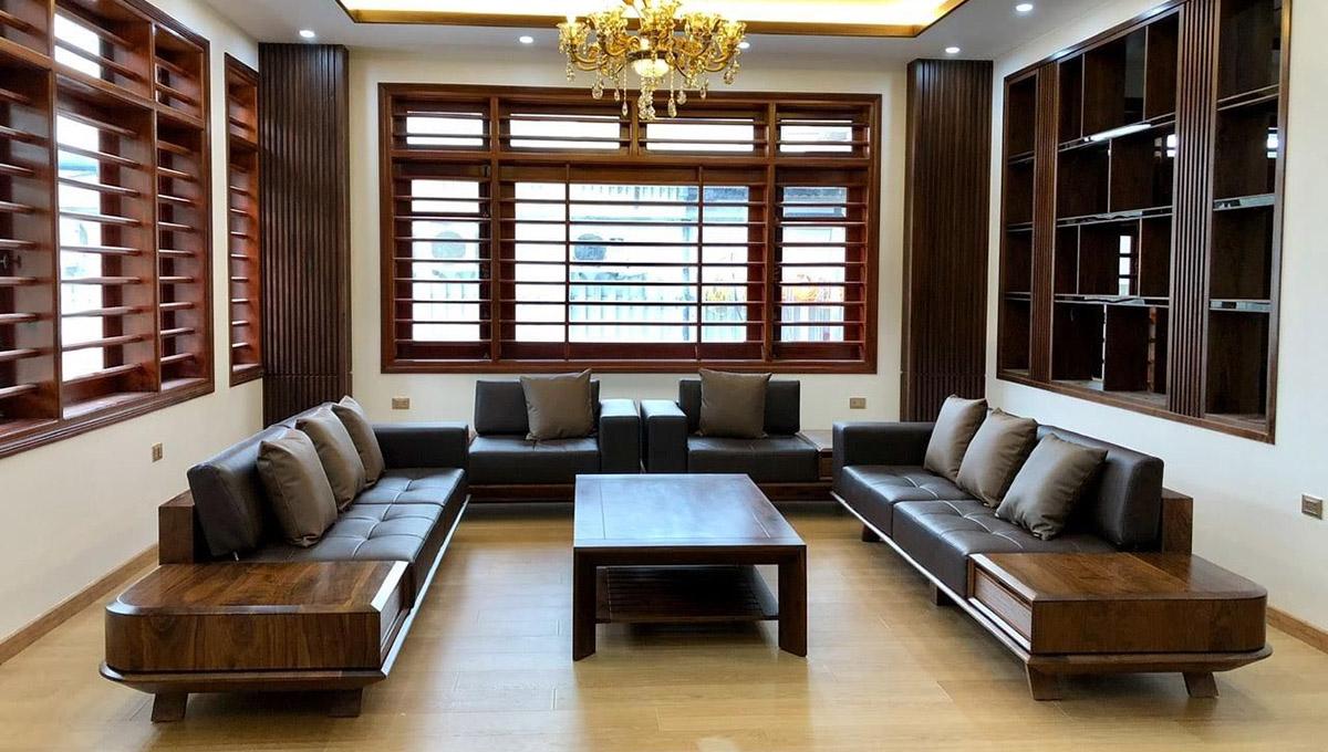Ghế gỗ băng dài phòng khách