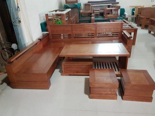 Ghế băng dài bằng gỗ Xoan